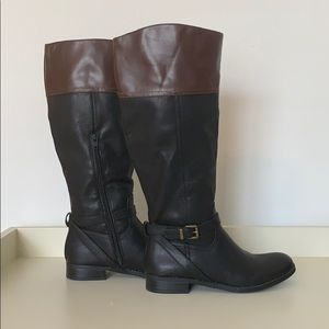 Size 6 Black/Brown Riding Boots